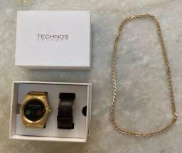 Relógio Technos Connect + brinde