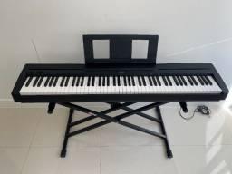 Piano Yamaha digital P45B excelente estado + suportes + bag