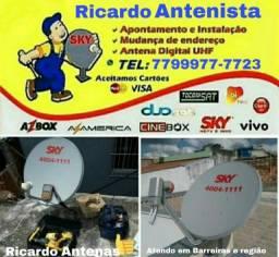 Instalador de antenas em Barreiras-BA