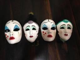 Máscaras de Veneza em porcelana