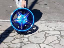 Rodas 17 multifuro 4x100 com pneus