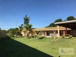 Chácara com 6 dormitórios para alugar, 1354 m² por r$ 5.000,00/mês - chácara recreio alvor