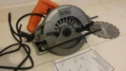 Serra Circular Madeira Black Decher 1400w 110 volt