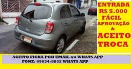 Nissan March Completo Troca 1.6 S 2013 - 2013