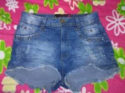3 Shorts jeans R$ 40,00 cada