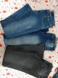 3 calças jeans tamanho 16 masculina