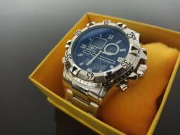 Relógio invicta digital prata