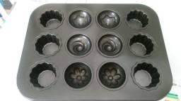 Forma anti-aderente para bolinhos cup-cakes