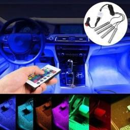 Led Neon Rgb Luz Interno Acessórios Carro Tuning 8 Cores 12v