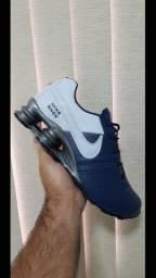 Tenis Nike Shox Azul e Branco N*38,39,40
