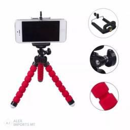Promoção Tripé Flexível para Celulares e Câmeras até 1 kg, Novo, Entregamos