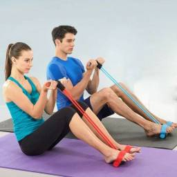Tube Fit 4 Pontas Exercicio Alongamento Yoga