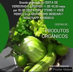 Cestas de produtos orgânicos...venha conferir