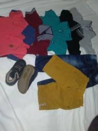 Sapato,blusas,calçar e bermuda
