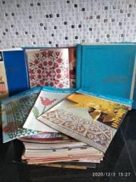 Coleção livros tricô crochê bordados