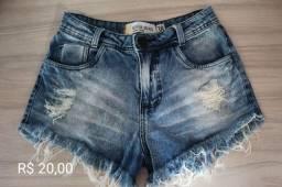 Shorts Jeans feminino Tam 38
