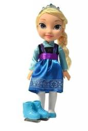 Boneca Frozen Princesa Luxo Elsa - Sunny - 35cm com Patins e Sapatos