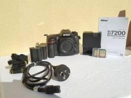 Título do anúncio: Nikon D7200 + equipamentos.