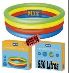 Título do anúncio: Piscina inflável arco-íris 550L