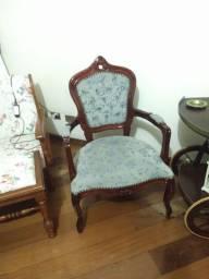 Título do anúncio: Par cadeiras Luís Xv e carrinho de chá israelense
