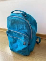 mochila kipling original azul