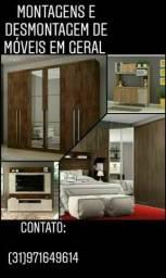 Montagens e desmontagens de móveis em geral