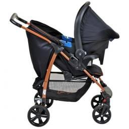 Carrinho de Bebe Bebe Conforto Burigotto Ecco Preto Bronze