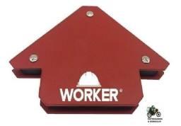 Título do anúncio: Esquadro Magnetico Solda 10kg 45º 90º 135º Serralheiro Worker