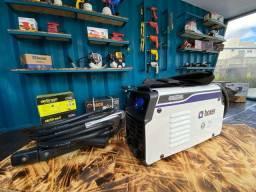 Inversora máquina de solda 145A 12x de R$69