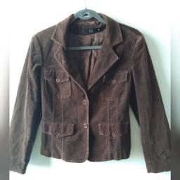 jaqueta feminina de veludo - tam. 38
