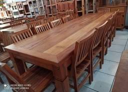 Mesa de madeira 3 metros maciça