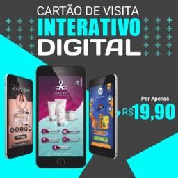 Cartão de visitas interativo digital