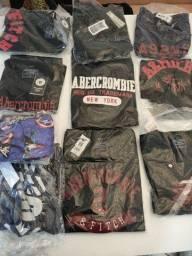 Camisetas Abercrombie Premium, ideal para revenda
