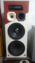 caixa de som alto falantes de 10