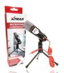 microfone xtrad ch0803 condensador de mesa com suporte tripé