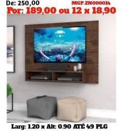 Painel de televisão até 49 Plg-Painel de Sala de Estar- Liquida em MS