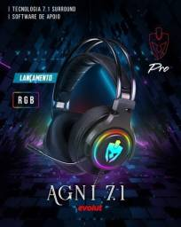 Headset Gamer Evolut Agni Pro 7.1 Novolacrado