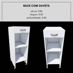 Rack Com Gaveta