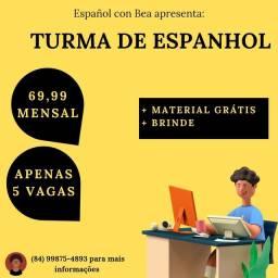Título do anúncio: Curso de espanhol