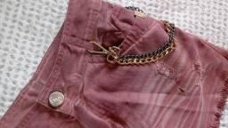 Título do anúncio: Saia jeans rosa Dimy