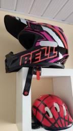 Título do anúncio: capacete trilha/motocross  Bell Tagger