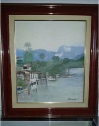 Quadro: Beira Rio - Pintura Óleo