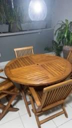 Título do anúncio: Mesa e cadeiras em teca
