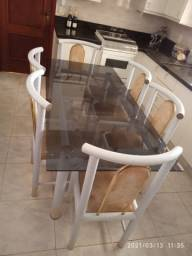 Mesa 6 cadeiras tubular Umuarama