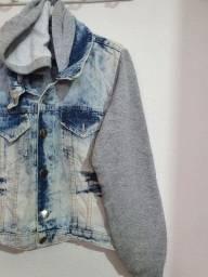 Jaqueta Jeans + moletom T.M