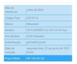 VENDO OU TROCO_Outlander GT V6