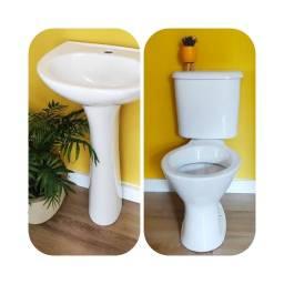Título do anúncio: 2 Conjuntos de banheiro vaso com caixa acoplada lavatório e coluna