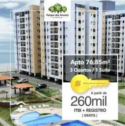 (RS) Apartamento no Calhau Com 3 qtos COM ITBI e Registro GRÁTIS