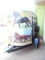 Carretinha para transporte de 2 animais
