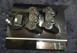 PS3, 2 controles, 20 jogos